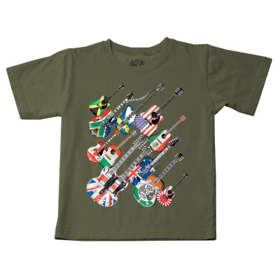 Wes 'N' Willy National Flag Guitars Tee