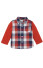 Rabbit Moon D.O.G. Red/Navy Oversized Check Woven Shirt