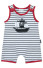 Le Top Arf, Matey! Striped Pirate Ship Romper