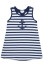 LeTop Happy Sails Stripe/Big Dot Reversible Sleeveless Dress w/ Anchor