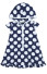 Le Top Happy Sails Big Dot Hooded Beach Dress
